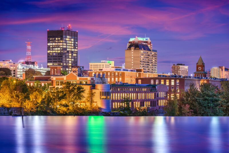 Manchester, New Hampshire ,USA Skyline, city, urban, building, high rise, metropolis, downtown, office building