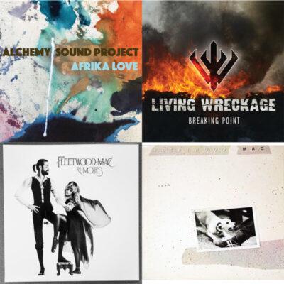 four album covers collage