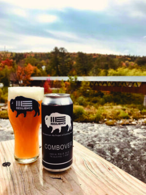 Combover IPA in a glass and a can by Schilling Beer Company