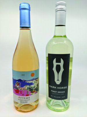 2 wine bottle on white background
