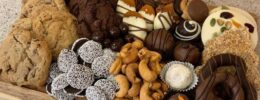 a tray of sweets and candies from Sweet Boutique in Bedford