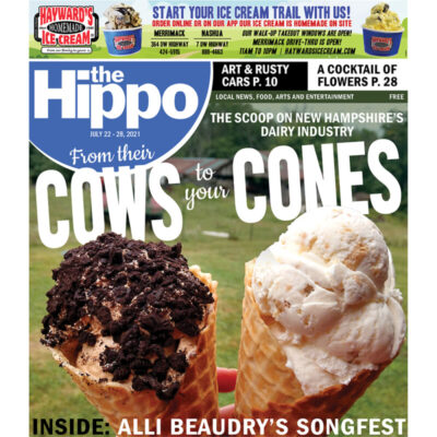 front cover of newspaper displaying two ice cream cones and text