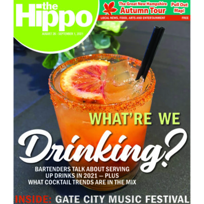 cover of magazine with drink on front