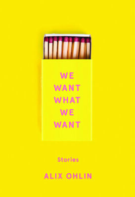 yellow book cover, matches in a yellow box, title in pink