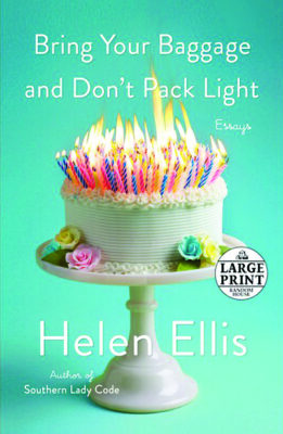 book cover, blue with white frosted cake covered in lit candles, title in white font above, author below
