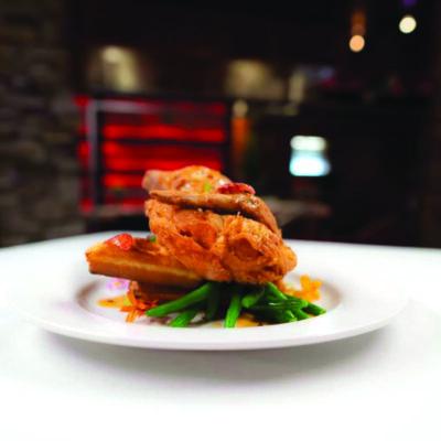 plated gourmet food